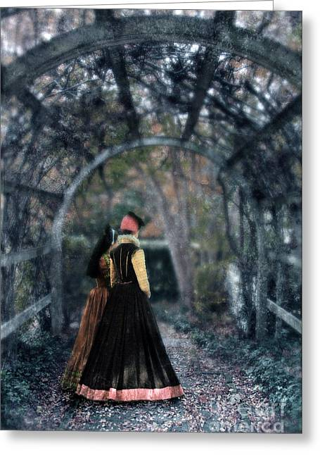 Renaissance Clothing Greeting Cards - Winter Arbor Greeting Card by Jill Battaglia