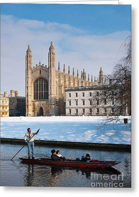 British Portraits Greeting Cards - Winter at Kings Greeting Card by Andrew  Michael