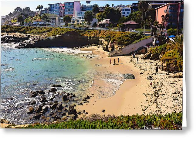 La Jolla Art Greeting Cards - Winter at The La Jolla Cove Greeting Card by Russ Harris