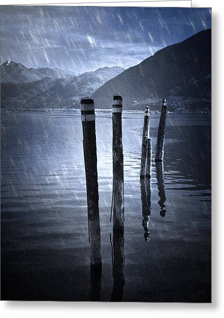 Piled Greeting Cards - Winter At The Lake Greeting Card by Joana Kruse