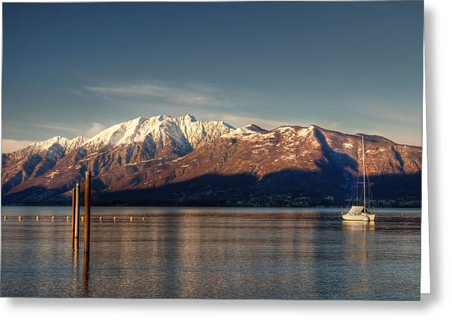 Tomorrow Greeting Cards - winter at the Lake Maggiore Greeting Card by Joana Kruse