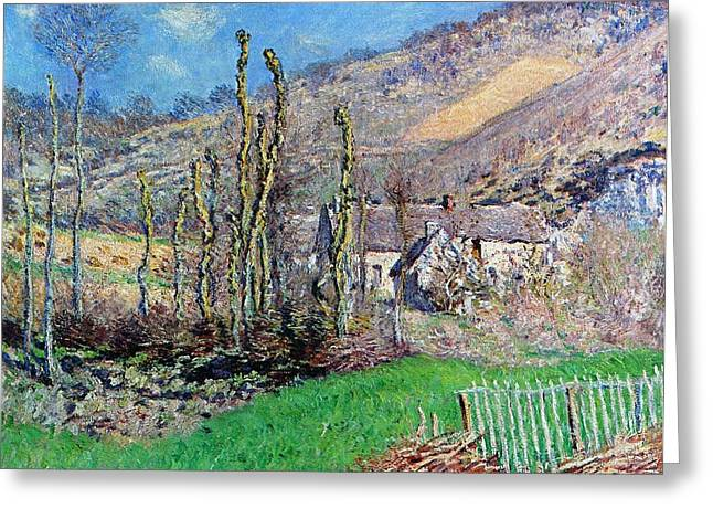 Branch Hill Greeting Cards - Winter at the Val de Falaise Greeting Card by Claude Monet