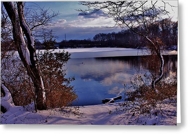 Mikki Cucuzzo Greeting Cards - Winter at Twin Lakes Greeting Card by Mikki Cucuzzo