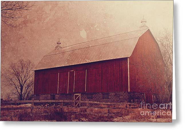 Wisconsin Barn Greeting Cards - Winter Barn Greeting Card by Joel Witmeyer