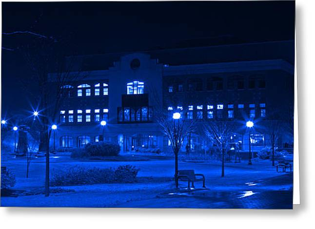 Winter Storm Greeting Cards - Winter Blues - Love In The Library Greeting Card by John Stephens