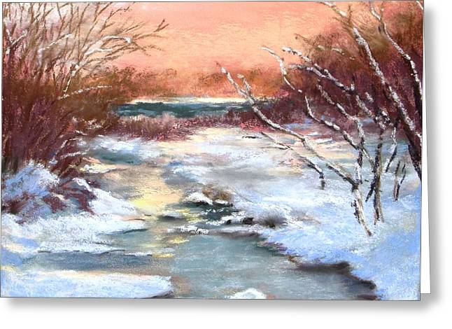 Winter Brook Greeting Card by Jack Skinner
