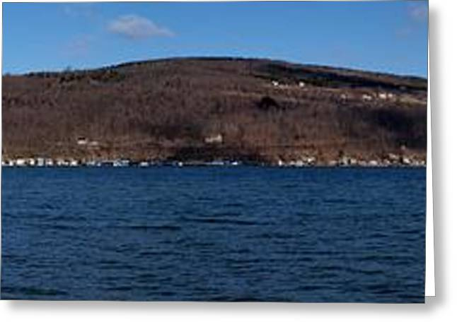 Finger Lakes Greeting Cards - Winter By the Lake Greeting Card by Joshua House