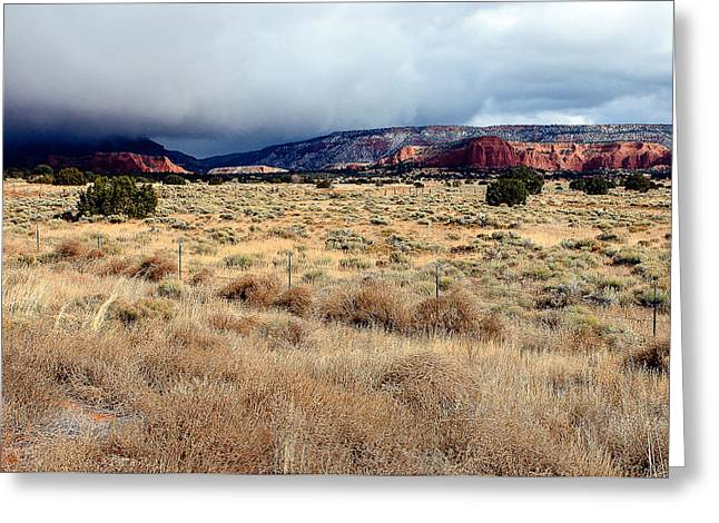 Coolidge Greeting Cards - Winter Clouds In New Mexico Greeting Card by William Oswald