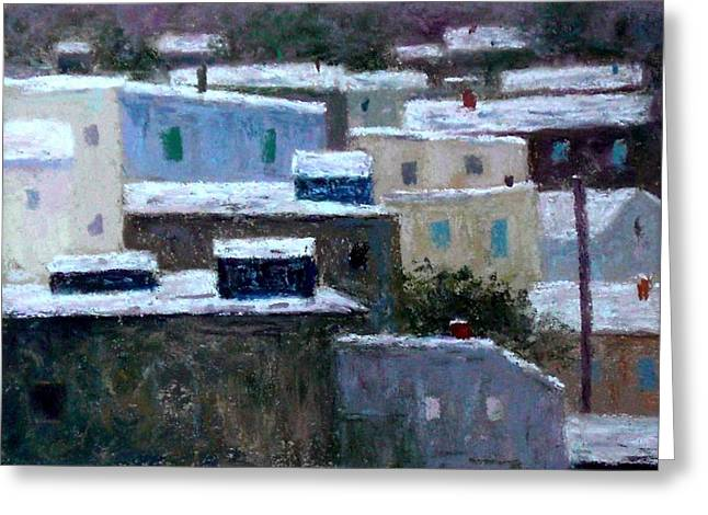 Philadelphia Pastels Greeting Cards - Winter day in the City Greeting Card by Bob Richey