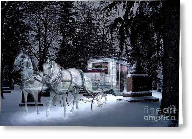 Paranormal Digital Art Greeting Cards - Winter Departure   Greeting Card by Tom Straub