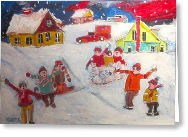 Litvack Greeting Cards - Winter Friends Greeting Card by Michael Litvack