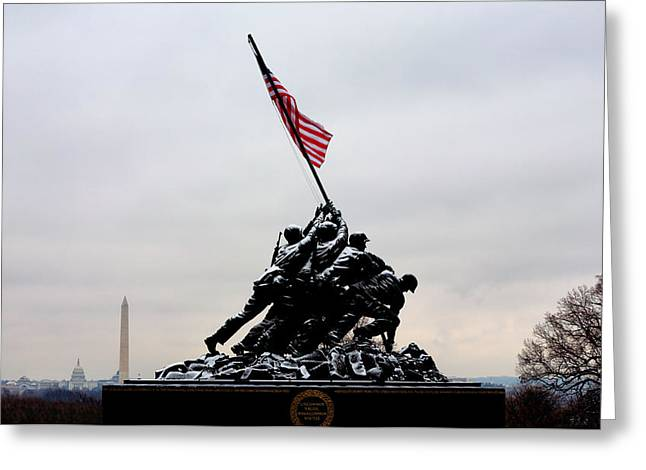 U.s. Marine Corps Greeting Cards - Winter in Arlington Greeting Card by JC Findley