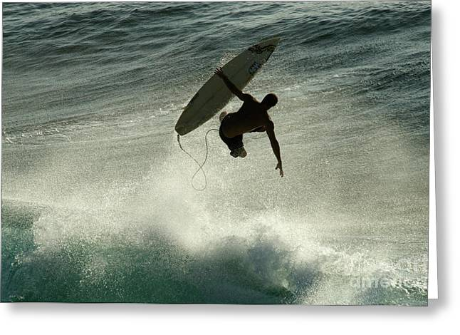Surfing Photos Greeting Cards - Winter In Hawaii 7 Greeting Card by Bob Christopher