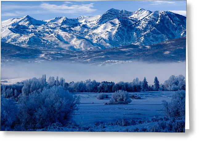 Best Sellers -  - Snowy Day Greeting Cards - Winter in Ogden Valley in the Wasatch Mountains of Northern Utah Greeting Card by Utah Images