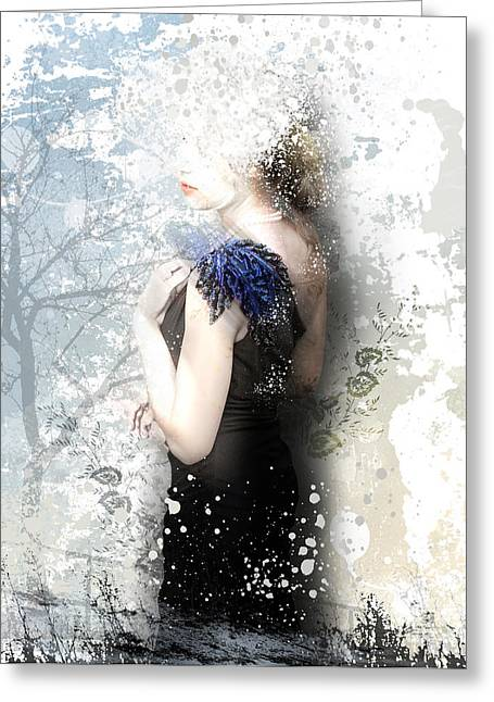 Digital Media Greeting Cards - Winter Lady Greeting Card by Viaina