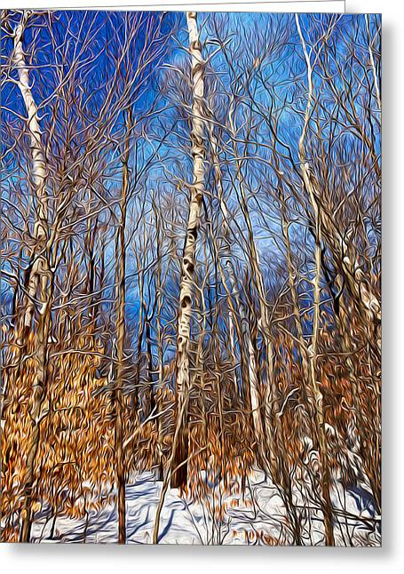 Winter Landscape I Greeting Card by Celso Bressan