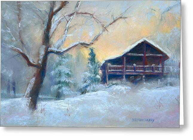 Winter Pastels Greeting Cards - Winter Light Greeting Card by MaryAnn Cleary