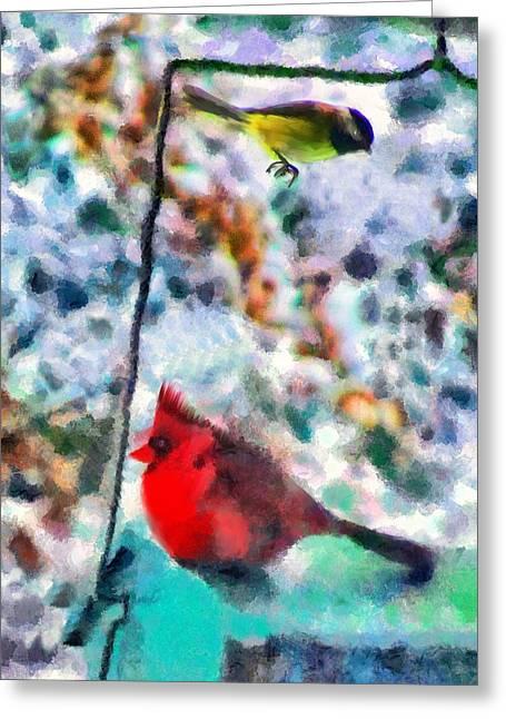 Best Sellers -  - Marilyn Sholin Greeting Cards - Winter Meals Greeting Card by Marilyn Sholin
