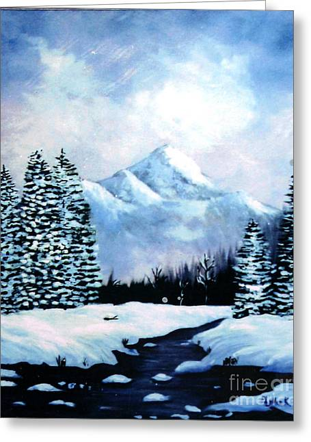Winter Mountains Greeting Card by Phyllis Kaltenbach