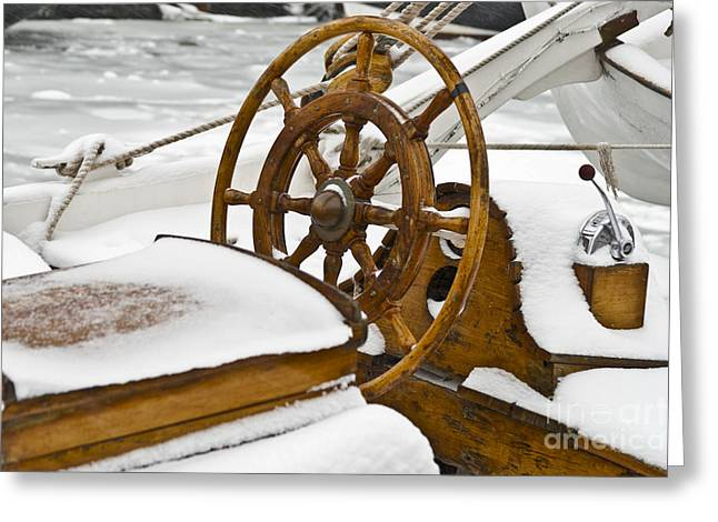 Ships Detail Greeting Cards - Winter on Board Greeting Card by Heiko Koehrer-Wagner