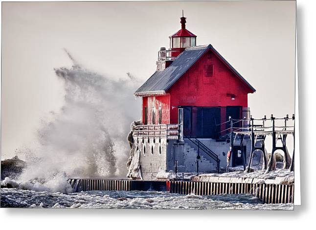 Winter Storm Greeting Cards - Winter  Rage Greeting Card by James Marvin Phelps