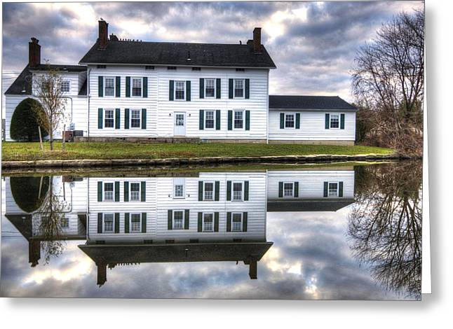 Babylon Greeting Cards - Winter Reflections Greeting Card by Vicki Jauron