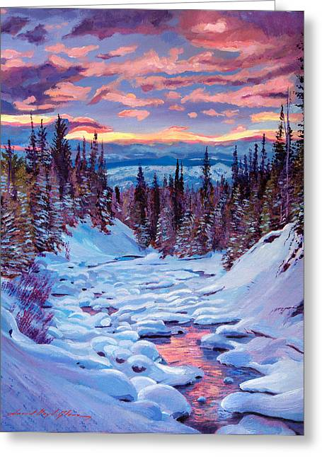 National Paintings Greeting Cards - Winter Solstice Greeting Card by David Lloyd Glover