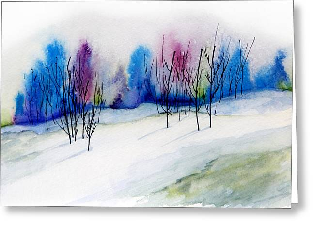 Sorbet Greeting Cards - Winter Sorbet Greeting Card by Lynne Furrer