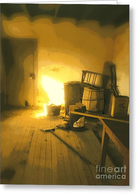 Old Farmhouse Prints Greeting Cards - Winter Store Room Greeting Card by Joe Jake Pratt