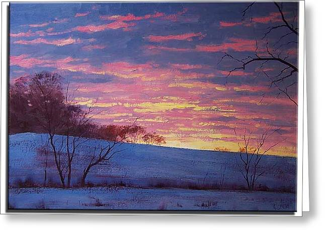 Winter Prints Greeting Cards - Winter Sunrise Greeting Card by Graham Gercken
