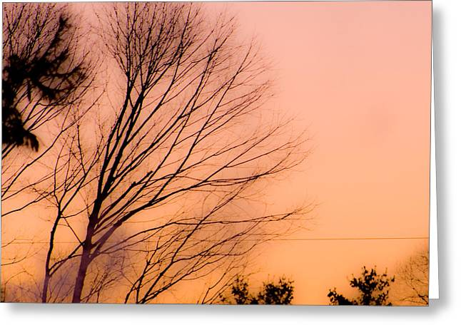 Maine Landscape Greeting Cards - Winter Sunrise Greeting Card by Laurie Breton