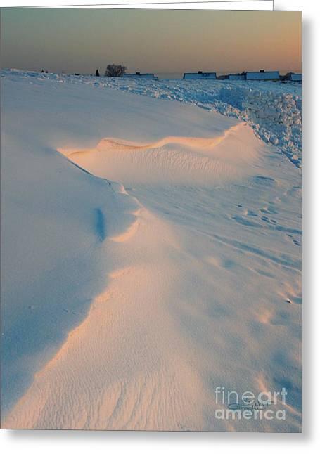 Winter Photos Greeting Cards - Winter Sunset Greeting Card by Jutta Maria Pusl
