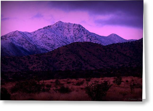 Rincon Greeting Cards - Winter Sunset on the Spur Greeting Card by Aaron Burrows
