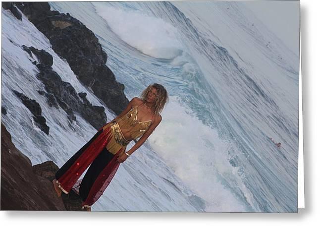Winter Swell Hookipa 2010 Greeting Card by Giorgia Piekarski