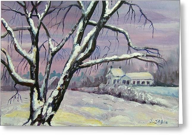 Winter tree Greeting Card by Saga Sabin
