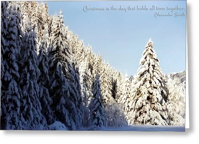 Winter Wonderland Austria Europe Greeting Card by Sabine Jacobs