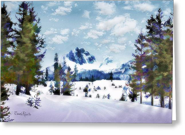 Simulation Greeting Cards - Winter Wonderland Greeting Card by Suni Roveto
