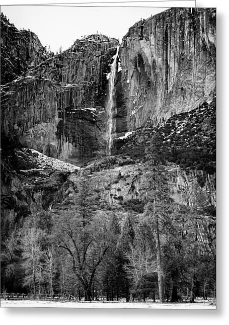 Yosemite Creek Greeting Cards - Winter Yosemite Falls Yosemite National Park CA Greeting Card by Troy Montemayor