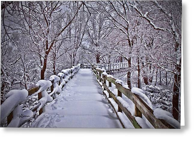Nature Center Greeting Cards - Winters Boardwalk Greeting Card by Jeff Swanson