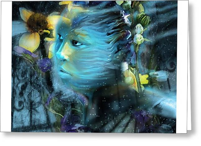 Flower Works Greeting Cards - Winters Keeper Of The Garden Greeting Card by Bob Salo