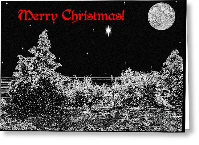 Winter's Night Greeting Card by Methune Hively