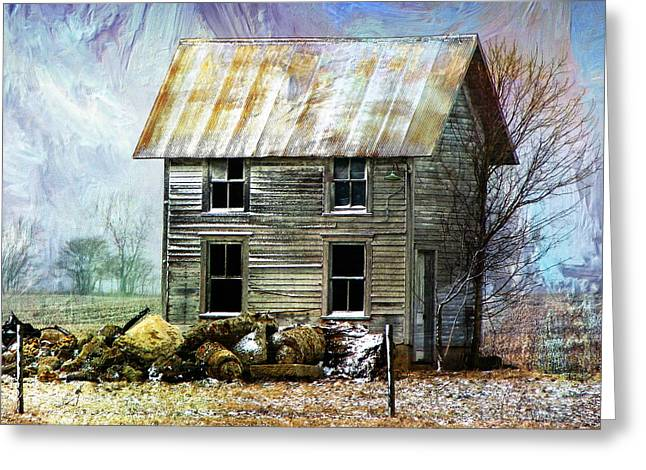 Tin Roof Mixed Media Greeting Cards - Winters Tale Greeting Card by Dominic Piperata