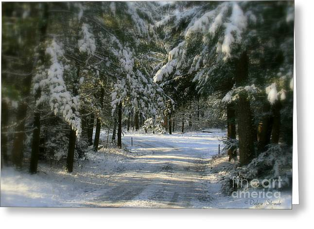 Winter's Tranquility Greeting Card by Debra Straub