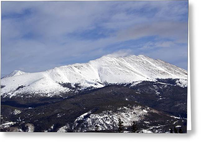 Summit County Colorado Greeting Cards - Wintertime in the Colorado Rockies Greeting Card by Brendan Reals
