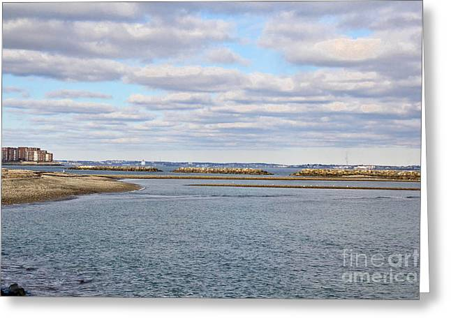 Winthrop Greeting Cards - Winthrop Beach Greeting Card by Extrospection Art