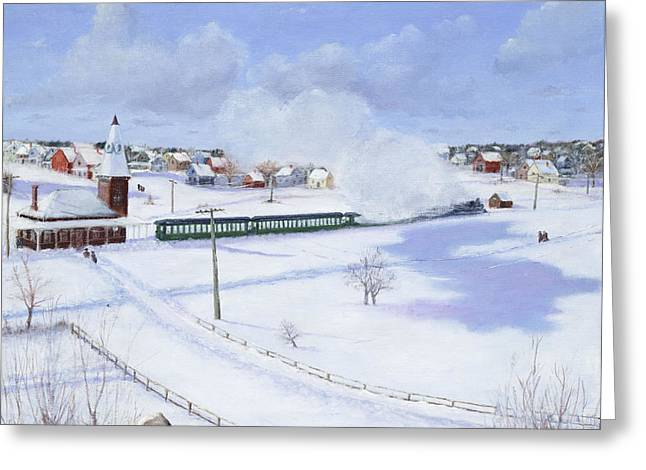 Winthrop Center Station   The Narrow Gauge  1888 Greeting Card by Mark Pimentel