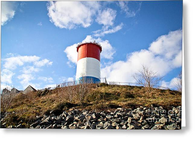 Winthrop Greeting Cards - Winthrop Water Tower Greeting Card by Extrospection Art