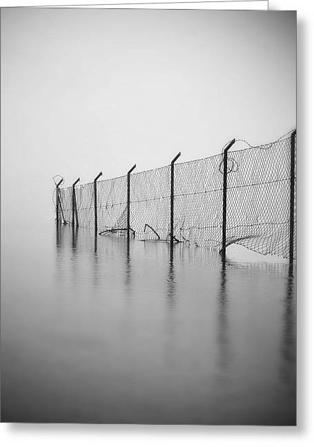 Fence Greeting Cards - Wire Mesh Fence Greeting Card by Joana Kruse