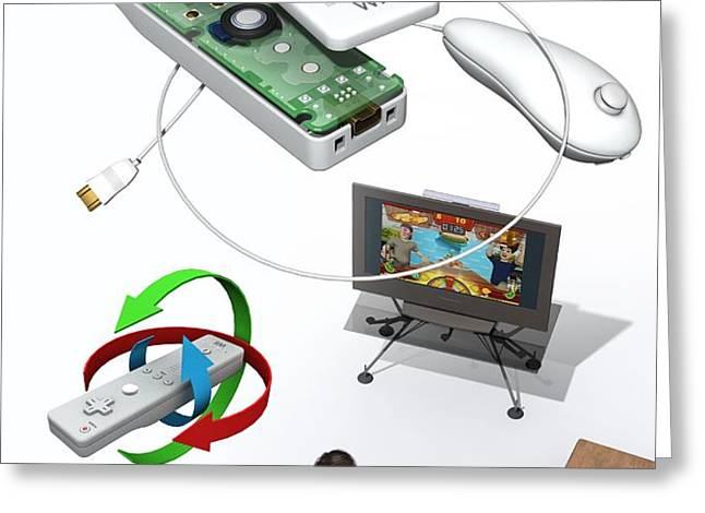 Wireless Home Video Game System Greeting Card by Jose Antonio PeÑas