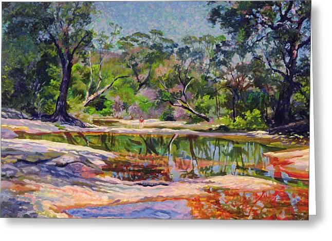 Lush Green Greeting Cards - Wirreanda Creek - New South Wales - Australia Greeting Card by Robert Tyndall